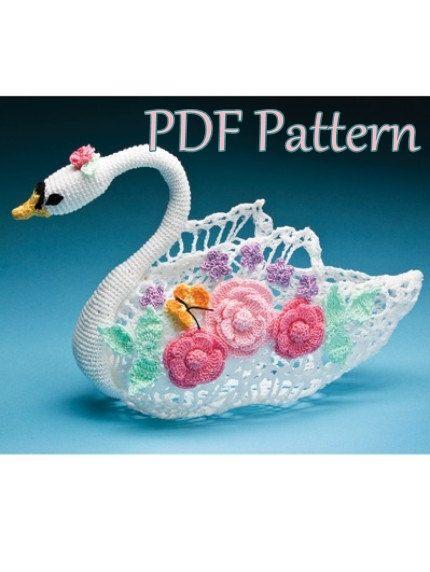 PDF Crochet Pattern Swan Queen  Centerpiece