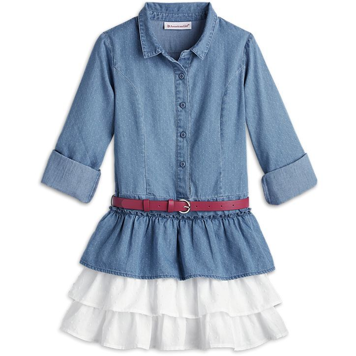 American Girl Western Chambray Outfit for Girls