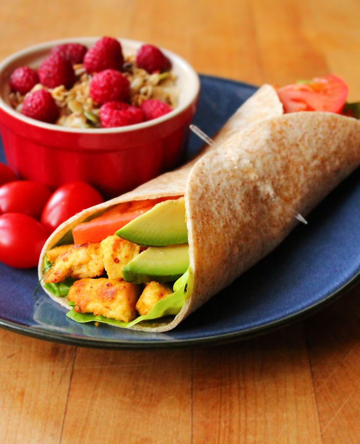 Scrambled Tofu Breakfast Wrap | Want a seriously powerful breakfast? This wrap provides a great mix of protein, healthy fats, and complex carbs. It's easy to take on the go and you can prep the tofu ahead of time for a quicker breakfast. | www.ilovevegan.com