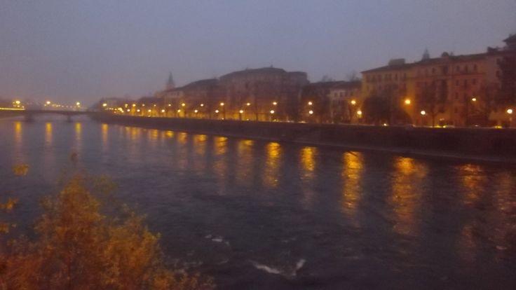 L'adige da ponte Navi #Verona