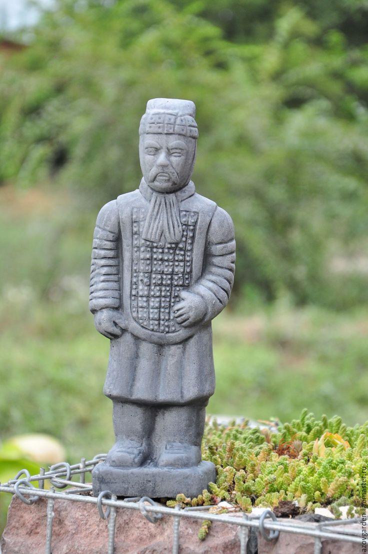 Купить Статуэтка Китайский Воин Терракотовая армия из бетон - серый, воин…