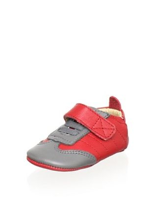 58% OFF Old Soles Kid's Lift Me Shoe (Red Leather/Grey Leather)