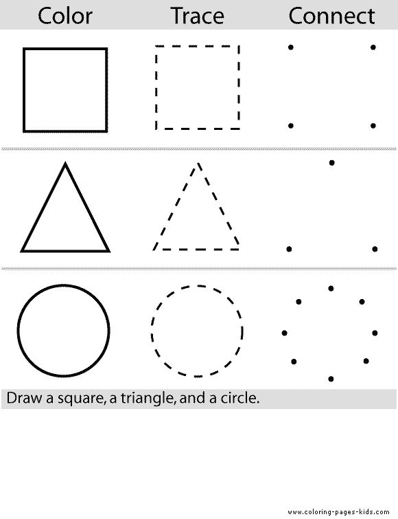 Shape trace printables more