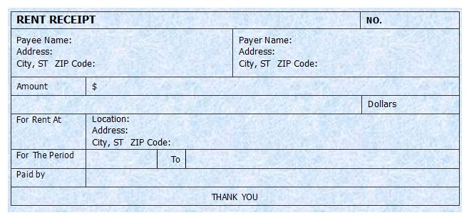 House Rental Receipt Format Cash Deposit Receipt At Httpwwwreceipts