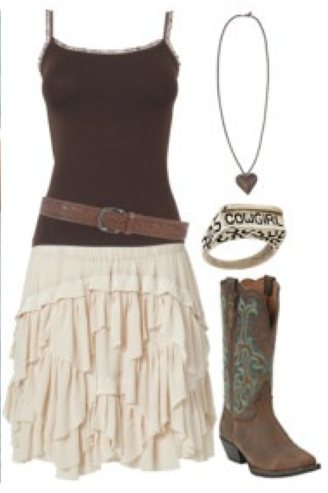 Cute cowboy boot outfit. Even though im not a cowgirl the ...