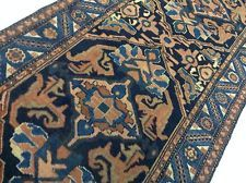 2.10 x 16 Antique Persian Hamadan Oriental Rug Long Runner Mint Hand Knotted