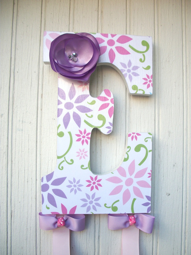 wooden letter from hobby lobby paint or mod cheap baby shower