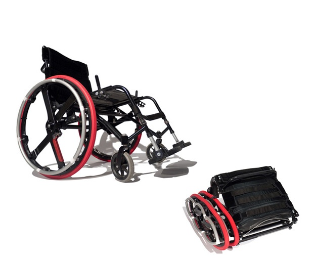 Wheelchair-and-folded