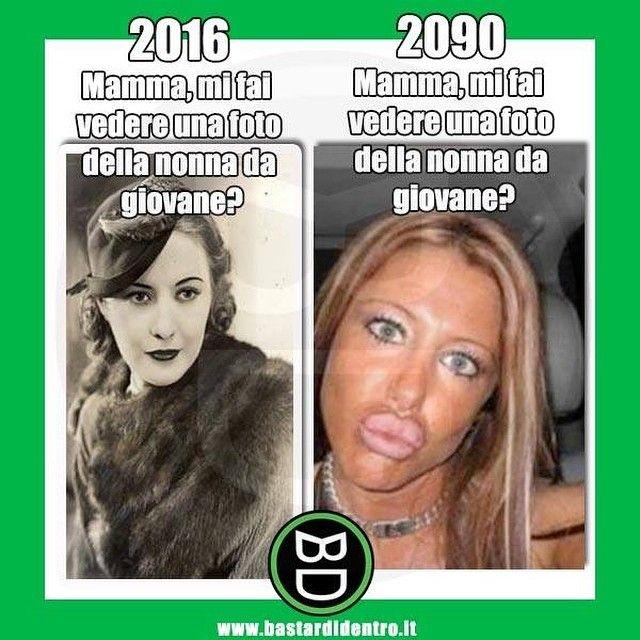 Mamma, com'era la #nonna da giovane? #bastardidentro #duckface www.bastardidentro.it