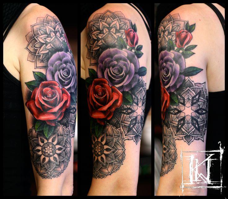 krzysztof wisniewski tattoo tatua warszawa warsaw mandala rose dotwork kwtattoo inked. Black Bedroom Furniture Sets. Home Design Ideas