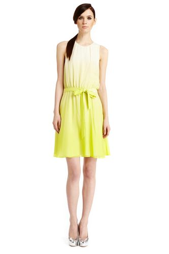 Neon dip dyed belted dress