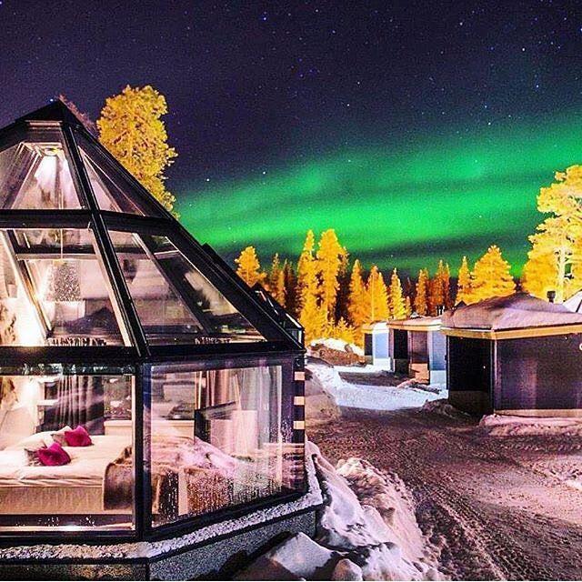 Tag Someone Below Hotel Aurora Chalet Luosto Finland