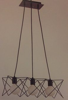 Siyah beyaz 3 ışığı tavan lambası