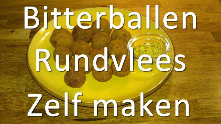 Uitgebreide video Rundvlees Bitterballen zelf maken - Recept, ingrediënten, frituren