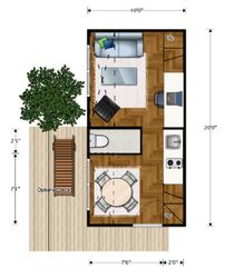 gallery nomad micro homes the floorplan for 2 combined has plenty of space on ground level to have a bedroom and the full bathroom is a wetbath - Nomad Homes