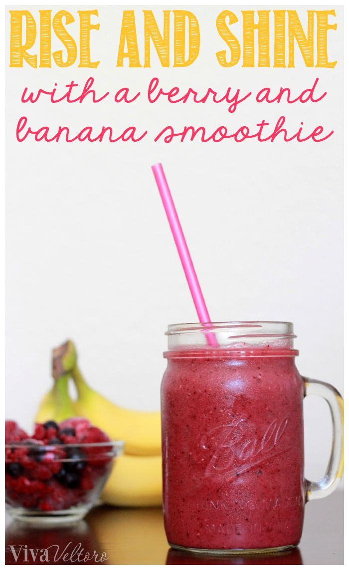 Start your morning off right with this Berry Banana Smoothie! It's easy to make and so good!