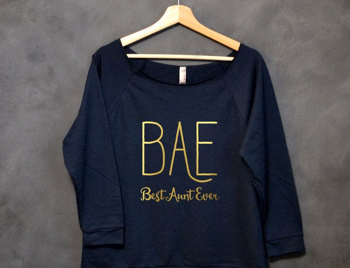 Etsy BAE Best Aunt Ever Shirt, New Aunt Gift, Proud Aunt, Best Auntie Ever Shirt, Best Aunt Shirt, Christ