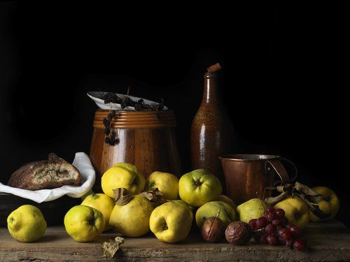© PAULETTE TAVORMINA, Still Life with Quince and Jug, after L.M. (from the series Bodegón), 2014