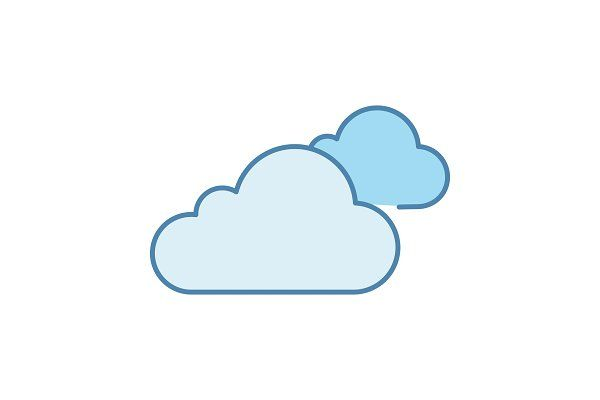 Cloudy Weather Color Icon Cloudy Weather App Logo Icon