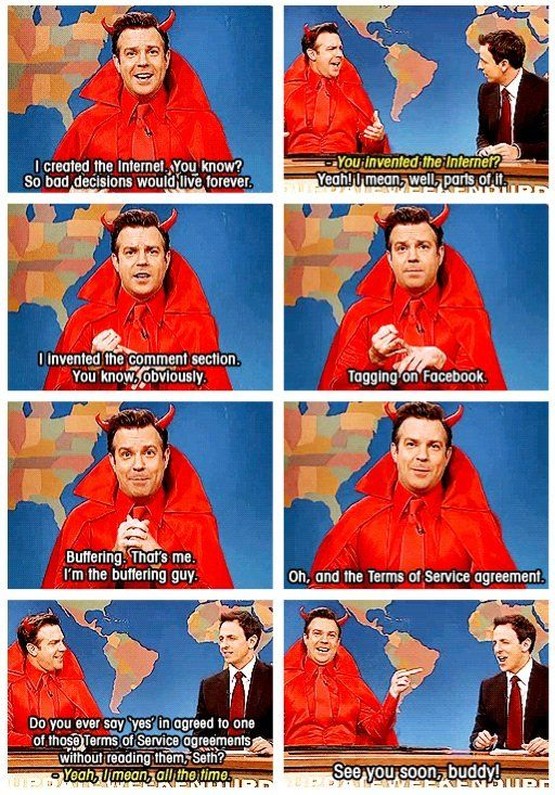 haha the SNL devil