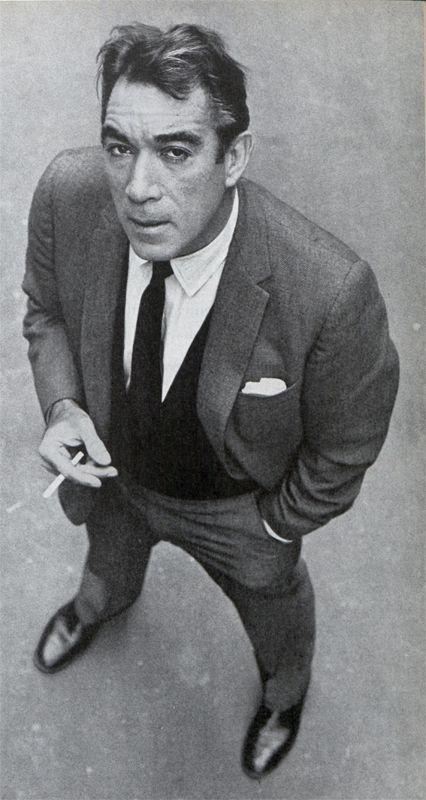 El genial actor Anthony Quinn en Octubre de 1962