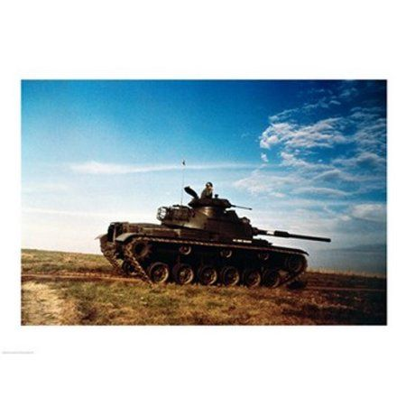 Solider in a military tank Canvas Art - (24 x 18)
