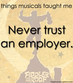 Superb Fiddler On The Roof   Things Musicals Taught Me
