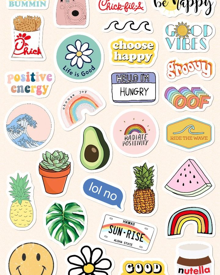 Aesthetic Stickers Printable Pink