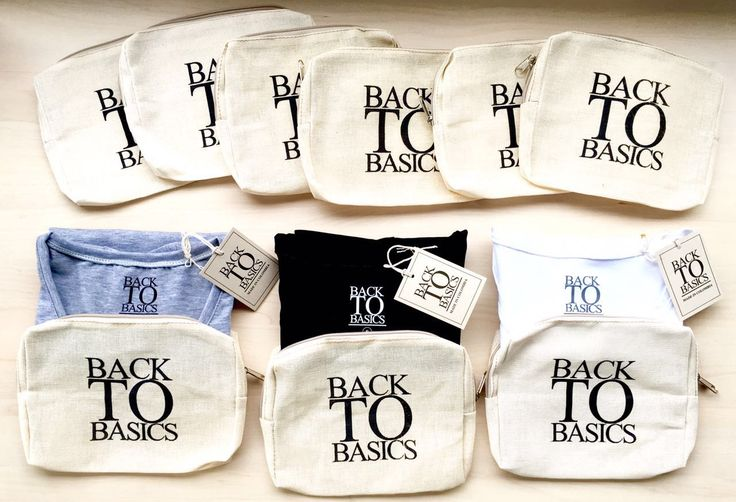 Each of our Basics comes in this eco-bag.