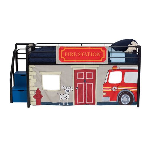DHP Fire Department Curtain Set for Junior Loft Bed - $43