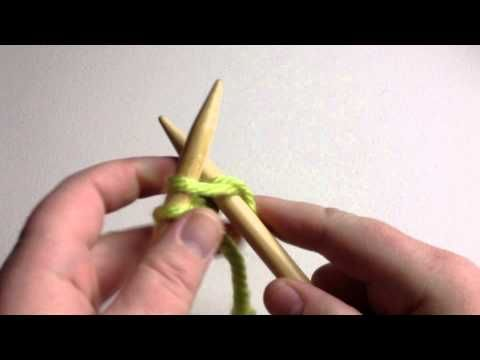How to Knit - Cast On Beginner (with closed captions):    Needle knitting playlist! (Beginner & Slow!)