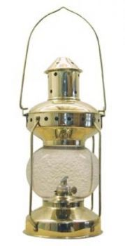 Lampe Messing, H: 31cm, Ø: 14cm Petroleum