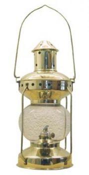 Lampe Messing, H: 31cm, Ø: 14cm Petroleum