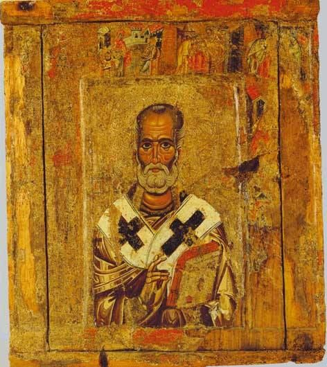 Byzantine icon depicting St Nicholas with scenes from his life, 13th century, Byzantine Museum of Kastoria, Greece