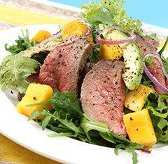 #Biftek #avokado #mango #verita #lezzet