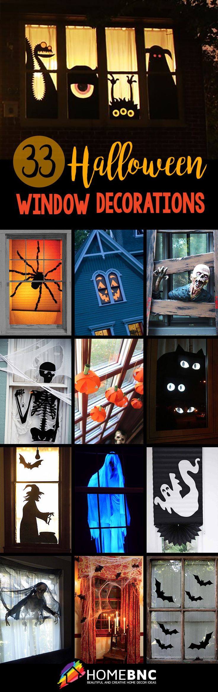 Halloween Window Decorations                                                                                                                                                                                 More