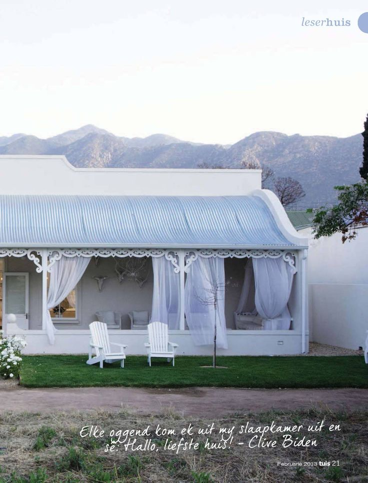 "Curved mabati roof. Beautiful. Beautiful Karoo home - Home magazine, the owner calls it ""the gentle house"""