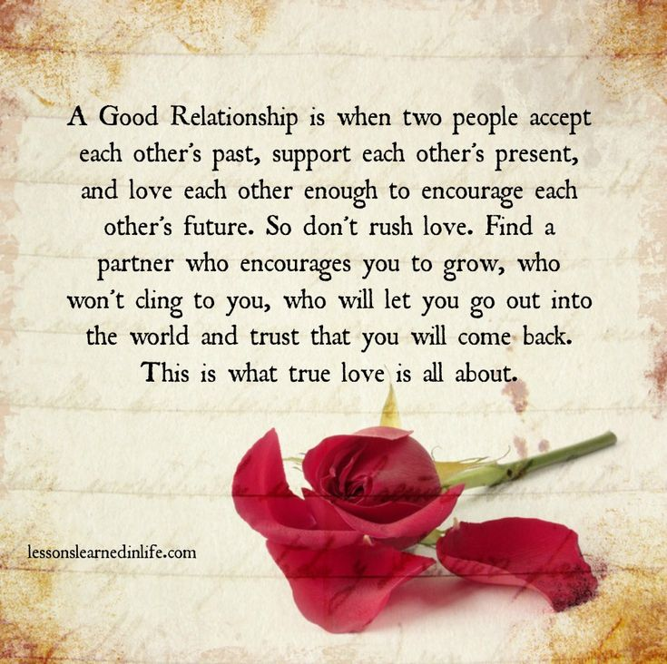 Love Each Other Quotes: A Good Relationship Is When Two People Accept Each Other's