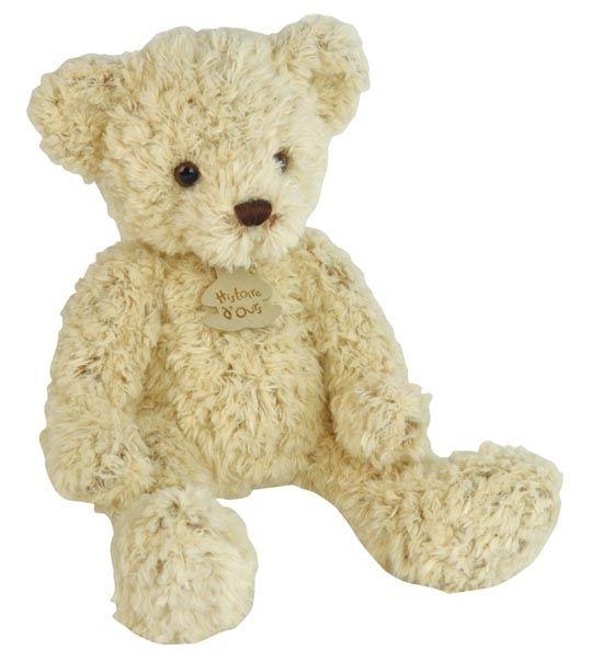 Peluche ours chiné beige 25 cm en peluche Look so sweet ! Want to cuddle him ^^ #teddy #nounours #doudou