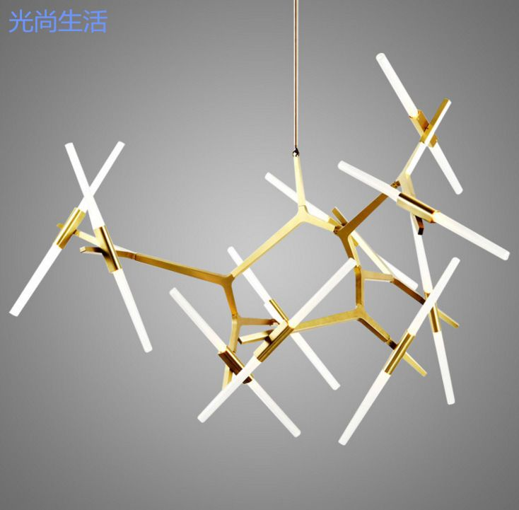 Chandelier type: Metal Chandelier. Modern Branch Chandelier Metal Pendant Light Industrial Glass Ceiling Fixtures. Lamp type: Pendant light. Applicable space: living room / dining room / study / bedroom / other. | eBay!