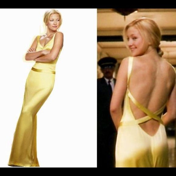 Yellow Gown from How To Lose a Guy in 10 Days! Cache Yellow Silk Gown replica of Kate Hudson's dress in How To Lose a Guy in 10 Days. Never worn and excellent condition! Size 2. Dry clean only. Low back with cross cross straps (see third photo). Cache Dresses Backless