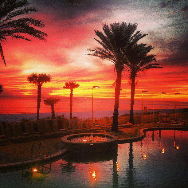 Sunset from the deck at the Boardwalk Beach Resort - Panama City Beach, Florida