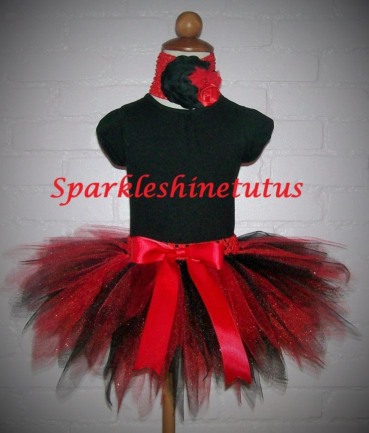 Red & Black Pixie Style tutu. Adult or child.