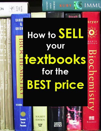 Sell your textbooks back for best price
