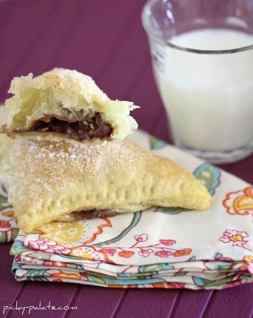 Nutella-Mallow puff pastry More