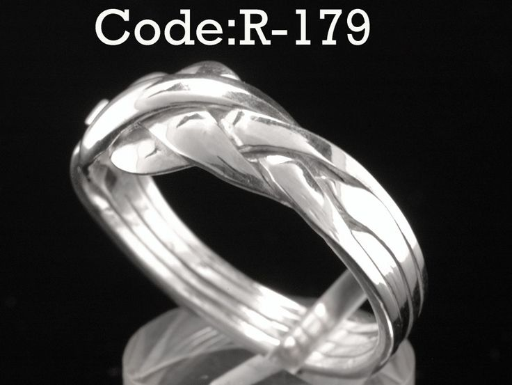 SIZE 12 Bravo Collection Sterling Silver 4 pieces Unisex PUZZLE Men Ring R-179