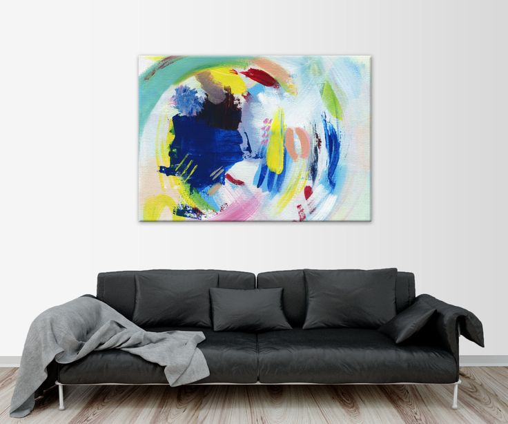 """Colourful Abstract Giclée Print, Abstract Acrylic Painting, Fine Art Print, Multicolor Painting, """"WIND"""" by HolaGabrielle on Etsy"""