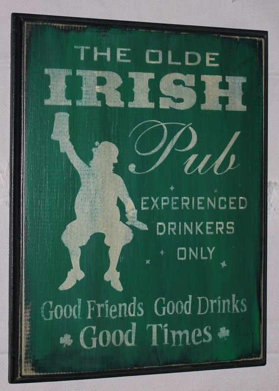 Irish Pub Sign  Good Friends/St Patrick's by TheGingerbreadShoppe, $21.95