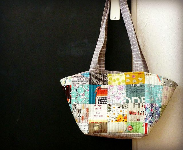 bag pattern is from Natural Patchwork by Suzuko Koseki