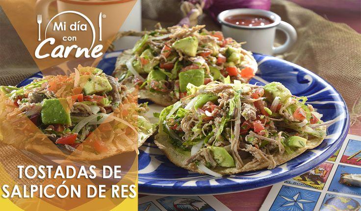 Tostadas De Salpic 243 N Tostadas Mexican Food Recipes Spinach Stuffed Chicken